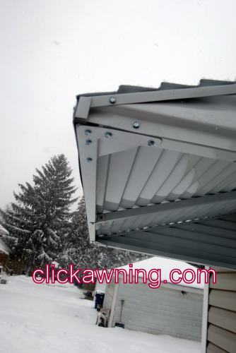 46 X 36 X 24 Aluminum Awning KIT- White